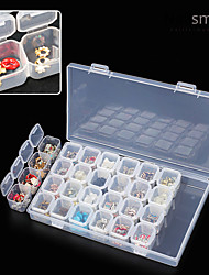 cheap -28 lattice separate transparent storage jewelry drill box