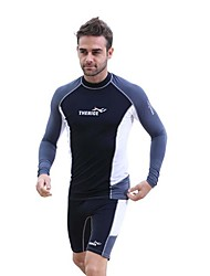 cheap -Men's Rash Guard Dive Skin Suit Diving Suit SPF30 UV Sun Protection Breathable Long Sleeve Diving Fashion Spring Summer / Quick Dry / Anatomic Design / Stretchy / Quick Dry