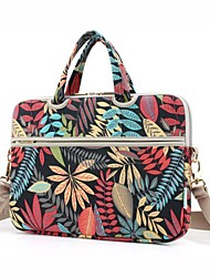 "cheap -13.3"" 14"" 15.6"" Shoulder Messenger Bag Briefcase Handbags Canvas Floral Print for Macbook/Surface/HP/Dell/Asus/Samsung/Sony/Xiaomi etc"