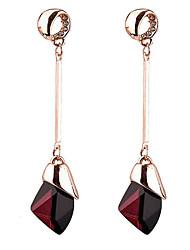 cheap -Women's Sapphire Synthetic Sapphire Drop Earrings Long Drop Ladies Euramerican Earrings Jewelry Purple / Blue For Daily