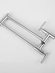 cheap -Kitchen faucet - Single Handle One Hole Chrome Standard Spout / Tall / ­High Arc / Pot Filler Wall Mounted Contemporary / Art Deco / Retro / Modern Kitchen Taps