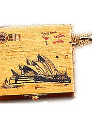 cheap -Music Box Sydney Opera House Wood Vintage Retro Kid's Girls' Toy Gift