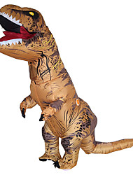 cheap -Dinosaur T-Rex Cosplay Costume Halloween Props Inflatable Costume Men's Women's Movie Cosplay Halloween Brown Leotard / Onesie Air Blower Halloween New Year Polyester
