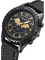cheap -Men's Fashion Watch Quartz Silicone Band Casual Black