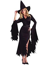 Недорогие -ведьма Косплэй Kостюмы Жен. Хэллоуин Фестиваль / праздник Спандекс Терилен Жен. Карнавальные костюмы другое / Шапки