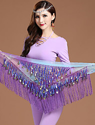 cheap -Belly Dance Hip Scarves Women's Training Chiffon Gold Coin Christmas Decorations / Halloween Decorations / Princess Hip Scarf / Fairies / Sexy Global Gals / Sexy Maids & Servants / Pirates