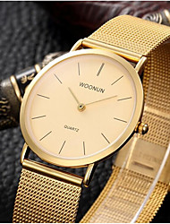 cheap -Men's Fashion Watch Quartz Gold Analog Beige Golden