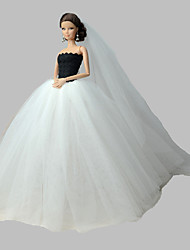 cheap -Doll Dress Wedding For Barbiedoll Organza Dress For Girl's Doll Toy / Kids