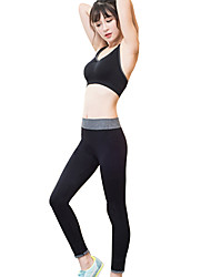 cheap -Women's Running Pants Sports Bra Top Yoga Running Exercise & Fitness Breathable Soft Comfortable Black Green / Black Jacinth +Gray Gray+Green Black / Blue Sports / Stretchy