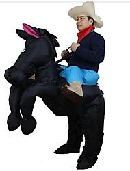 cheap -Horse Cosplay Costume Halloween Props Inflatable Costume Men's Women's Movie Cosplay Halloween Black Leotard / Onesie Air Blower Halloween New Year Polyester