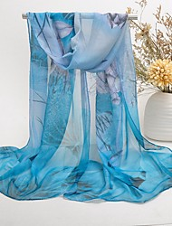 cheap -Women's Party Chiffon / Polyester Rectangle Scarf / Cute