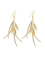 cheap -Women's Drop Earrings Leaf Ladies Dangling Vintage Bohemian Simple Style Fashion Silver Plated Gold Plated Earrings Jewelry Gold / Silver For Christmas Gifts Wedding Party Special Occasion