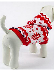 cheap -Dog Sweater Dog Clothes Cartoon Red Silk Fabric Cotton Costume For Winter Men's Women's Casual / Daily Fashion
