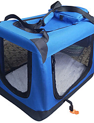cheap -Cat Dog Carrier Bag & Travel Backpack Portable Breathable Double-Sided Solid Colored Fabric Red Blue / Foldable