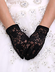 cheap -Spandex / Lace / Polyester Wrist Length Glove Classical / Bridal Gloves / Party / Evening Gloves With Solid
