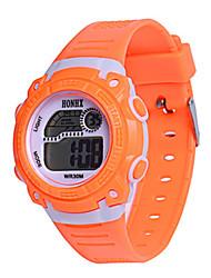 Недорогие -Муж. Жен. Спортивные часы электронные часы Цифровой силиконовый Синий / Оранжевый / Розовый 30 m Цифровой Оранжевый Синий Розовый
