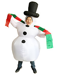 cheap -Snowman Cosplay Costume Halloween Props Masquerade Men's Women's Movie Cosplay White Leotard / Onesie Air Blower Halloween Carnival Children's Day Polyester