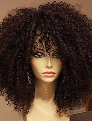 cheap -Human Hair Full Lace Wig style Kinky Curly Wig 150% Density with Baby Hair Natural Hairline African American Wig 100% Hand Tied Women's Short Medium Length Long Human Hair Lace Wig ELVA HAIR