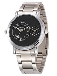cheap -Men's Fashion Watch Quartz Black / Silver 30 m Analog White Black Silver