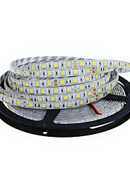cheap -5m Flexible LED Light Strips 300 LEDs 5050 SMD 10mm Warm White / White Cuttable / Linkable / Suitable for Vehicles 12 V / Self-adhesive / IP44
