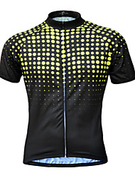 cheap -JESOCYCLING Men's Short Sleeve Cycling Jersey Yellow Green Blue Bike Jersey Top Mountain Bike MTB Road Bike Cycling UV Resistant Breathable Quick Dry Sports Clothing Apparel / Stretchy / Back Pocket