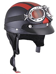 cheap -Motorcycle Scooter Half Helmet Hat Open Face Shield Visor With Sun UV Goggles For Harley - Motorcycle Helmet