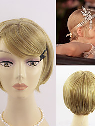 cheap -the great gatsby women copslay hair short black blonde two color choice fashion heat resistant wig daisy s hair daily hit chic wig