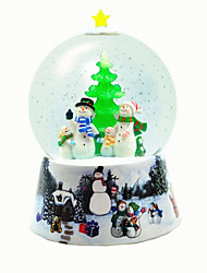 cheap -Balls Music Box Christmas Trees Duck Lighting Crystal Resin Unisex Toy Gift