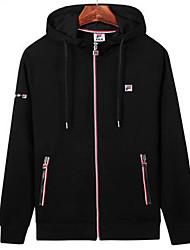cheap -Men's Track Jacket Running Jacket Cotton Exercise & Fitness Leisure Sports Sportswear Plus Size Athleisure Wear Black Activewear