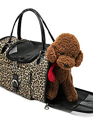 cheap -Cat Dog Carrier Bag & Travel Backpack Front Backpack Car Seat Cover Dog Pack Portable Breathable Double-Sided Leopard Nylon Black / Foldable