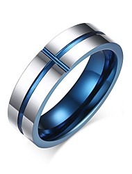 cheap -Men's Ring Groove Rings Assorted Color Stainless Steel Tungsten Steel Round Circle Geometric Personalized Basic Simple Style Party Anniversary Jewelry Two tone