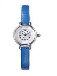 cheap -Women's Fashion Watch Quartz Leather Black / White / Blue Analog Black Brown Blue