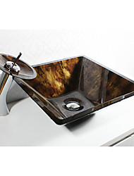 cheap -Bathroom Sink Antique - Tempered Glass Round Vessel Sink
