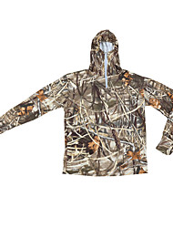 cheap -Men's Camouflage Hunting T-shirt Outdoor Breathable Sweat-wicking Spring Summer Fall Camo / Camouflage Top Cotton Tactel Long Sleeve Camping / Hiking Hunting Fishing / Winter / Winter
