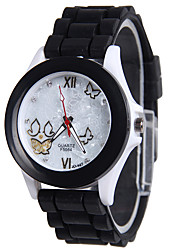 cheap -Women's Fashion Watch Quartz Silicone Band Casual Black White Yellow