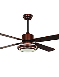 cheap -1-Light Ecolight™ 132 cm LED / Designers Ceiling Fan Metal Nickel Vintage / Country 220-240V