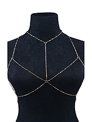 cheap -Women's Body Jewelry Body Chain Gold / Silver Geometric Fashion / Handmade Alloy Costume Jewelry For Casual Summer