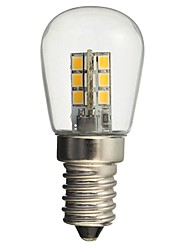 Недорогие -hkv® led bulb e14 1w 2835smd 24led glass shade 360-градусный угол освещения теплый холодный белый для швейной машины холодильник