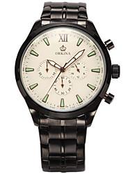 cheap -Men's Fashion Watch Quartz Digital Silicone Black 30 m Analog White Black