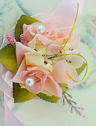 """cheap -Wedding Flowers Wrist Corsages Wedding / Party / Evening / Engagement Party Tulle / Satin 1.18""""(Approx.3cm)"""