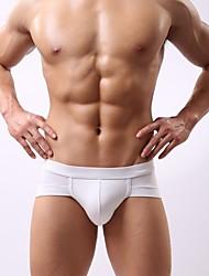 cheap -Men's Super Sexy Briefs Underwear Solid Colored 1 Piece Black White Purple L XL XXL