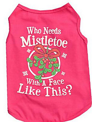 cheap -Dog Vest Dog Clothes Fuchsia Costume Cotton Flower Casual / Daily XS S M L