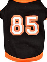 cheap -Dog Vest Dog Clothes Black Orange Costume Cotton Flower Casual / Daily Fashion XS S M L