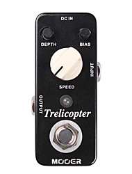 cheap -Mooer Trelicopter Tremolo Guitar Effect Pedal Classic Optical Tremolo with Huge Range of Speeds and Depths Full Metal Shell True Bypass