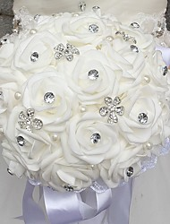 "cheap -Wedding Flowers Bouquets Wedding Bead / Rhinestone / Foam 11.02""(Approx.28cm)"
