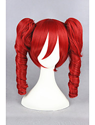cheap -vocaloid red wave 16inch anime cosplay wigs2ponytails cs 157a Halloween