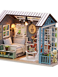 cheap -Music Box Dollhouse DIY Furniture House Wooden Wood Unisex Toy Gift