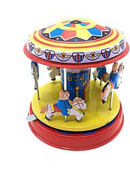 Недорогие -Игрушка с заводом Милый стиль Лошадь Карусель Веселый раунд Металлические Железо 1 pcs Куски Детские Мальчики Девочки Игрушки Подарок