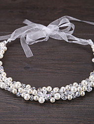 cheap -Crystal / Imitation Pearl Tiaras / Headbands / Flowers with Floral 1pc Wedding / Special Occasion / Outdoor Headpiece