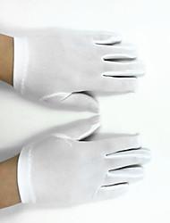 cheap -Polyester Elastic Satin Wrist Length Glove Flower Girl Gloves